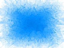 Quadro azul da geada do vetor ilustração royalty free