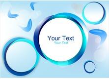 Quadro azul do círculo Fotos de Stock
