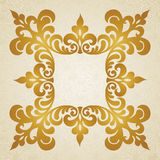 Quadro barroco do vetor no estilo vitoriano. Fotografia de Stock