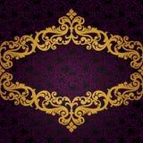 Quadro barroco do vetor no estilo vitoriano. Foto de Stock Royalty Free
