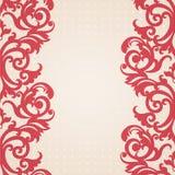 Quadro barroco do vetor no estilo vitoriano. Imagens de Stock Royalty Free