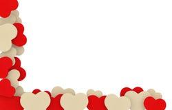 Quadro bege e vermelho dos corações do sabão Foto de Stock Royalty Free