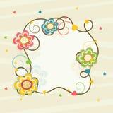 Quadro bonito com decoração das flores Imagem de Stock Royalty Free