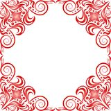 Quadro bonito vermelho no estilo clássico na parte traseira do branco Fotos de Stock