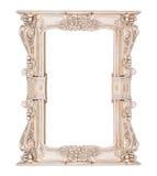 Quadro branco clássico do retângulo do vintage fotos de stock royalty free