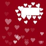 Quadro branco com corações 3d Foto de Stock Royalty Free