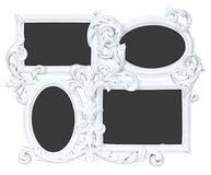 Quadro branco da foto feito da gipsita com 4 lugares Foto de Stock Royalty Free