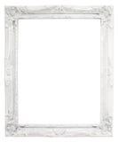 Quadro branco do vintage com espaço vazio, com trajeto de grampeamento Imagem de Stock Royalty Free