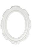 Quadro branco do vintage com espaço vazio, com trajeto de grampeamento Fotografia de Stock