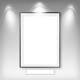 Quadro branco vazio vazio ilustração stock