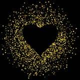 Quadro brilhante com coração Fundo preto Eps 10 ilustração do vetor