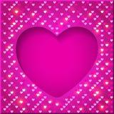 Quadro brilhante do dia de Valentim Fotos de Stock