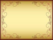 Quadro brilhante do vetor com inclinação do ouro ilustração royalty free