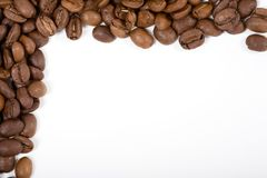 Quadro - Café-feijões imagem de stock