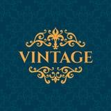 Quadro caligráfico luxuoso do vintage com bonito ilustração do vetor