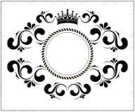 Quadro caligráfico bonito com coroa Foto de Stock