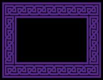 Quadro celta do nó, roxo, versão do vetor ilustração stock