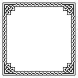Quadro celta, teste padrão da beira - Foto de Stock