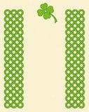 Quadro celta verde do trevo Imagem de Stock
