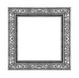 Quadro cinzento do vintage isolado no fundo branco, trajeto de grampeamento Imagens de Stock