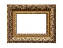 Quadro clássico dourado da lona de pintura foto de stock