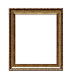 Quadro clássico dourado da lona de pintura fotos de stock royalty free