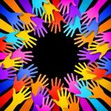 Quadro colorido das mãos do vetor Fotografia de Stock