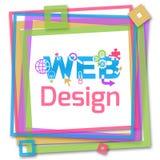 Quadro colorido do design web Fotografia de Stock Royalty Free