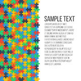Quadro colorido do enigma Fotografia de Stock