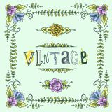 Quadro colorido vintage Fotos de Stock