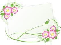 Quadro com as flores ilustração stock