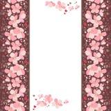 Quadro com as flores cor-de-rosa da cereja ilustração stock