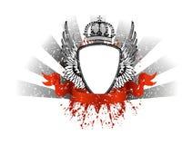 Quadro com asas e coroa Imagens de Stock Royalty Free