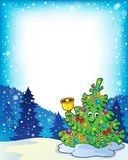 Quadro com assunto 3 da árvore de Natal Fotos de Stock Royalty Free