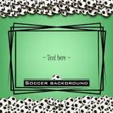 Quadro com bolas de futebol Fotos de Stock Royalty Free