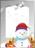 Quadro com boneco de neve Fotografia de Stock Royalty Free