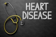 Quadro com conceito da doença cardíaca ilustração 3D ilustração do vetor