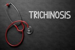 Quadro com conceito do Trichinosis ilustração 3D Imagens de Stock Royalty Free