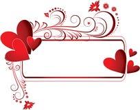 Quadro com coração ilustração royalty free