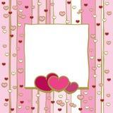 Quadro com corações Imagem de Stock Royalty Free