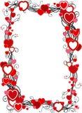 Quadro com corações Foto de Stock Royalty Free