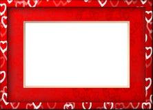 Quadro com corações Fotografia de Stock Royalty Free