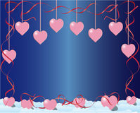 Quadro com corações ilustração stock