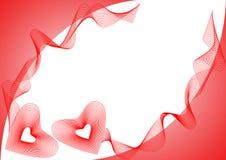 Quadro com corações vermelhos Foto de Stock Royalty Free