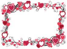 Quadro com corações Imagens de Stock