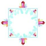 Quadro com cristais do druze ilustração royalty free