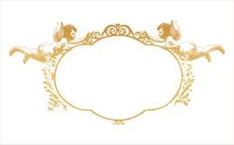 Quadro com dois herubs ilustração royalty free