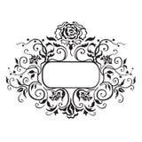 Quadro com elementos decorativos Fotos de Stock Royalty Free