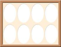 Quadro com esteira oval Fotografia de Stock Royalty Free
