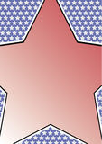 Quadro com estrela grande Fotos de Stock Royalty Free